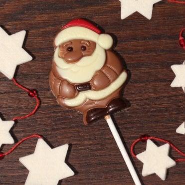 Chocolate Santa Lolly