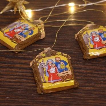 Chocolate Nativity Decoration