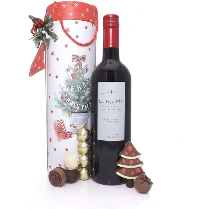 Red Wine Christmas Gift Set