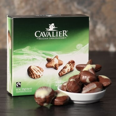 Reduced Sugar Belgian Seashells - 10 Chocolates