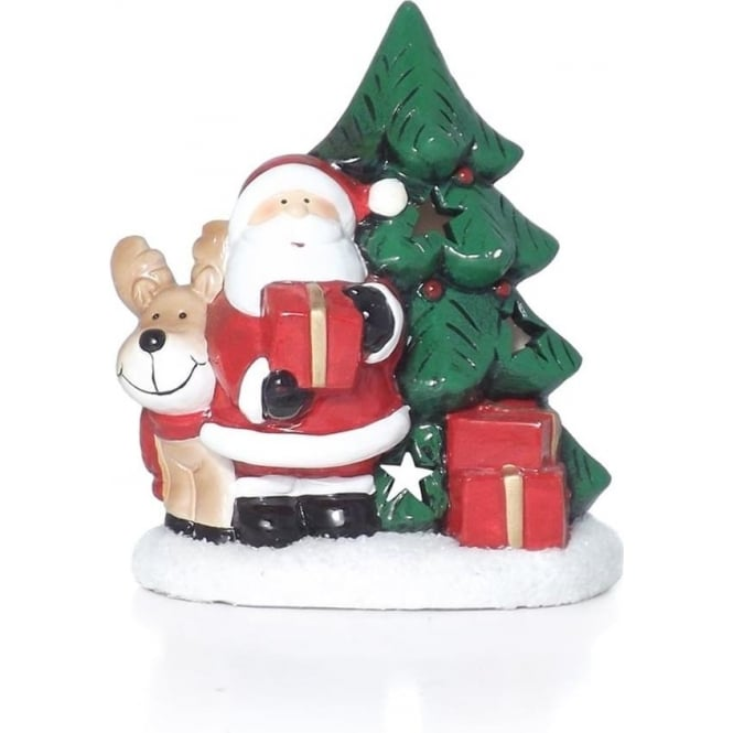 Santa & Rudolph T-light Holder