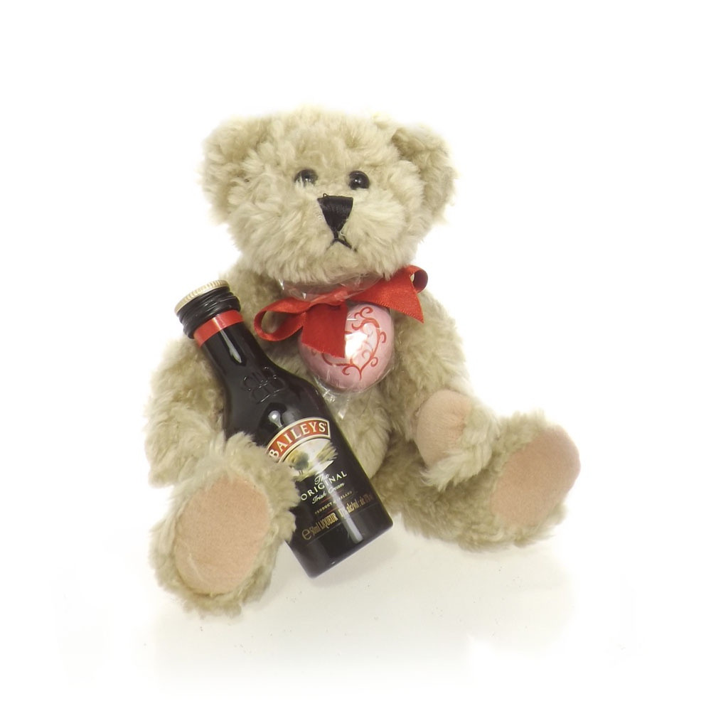 Buy Valentine Teddy Bear With Baileys Valentine Gift