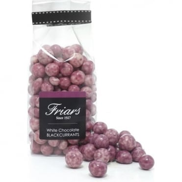 White Chocolate Coated Blackcurrants