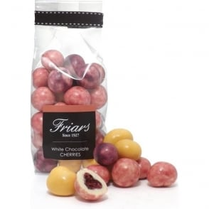 White Chocolate Coated Cherries