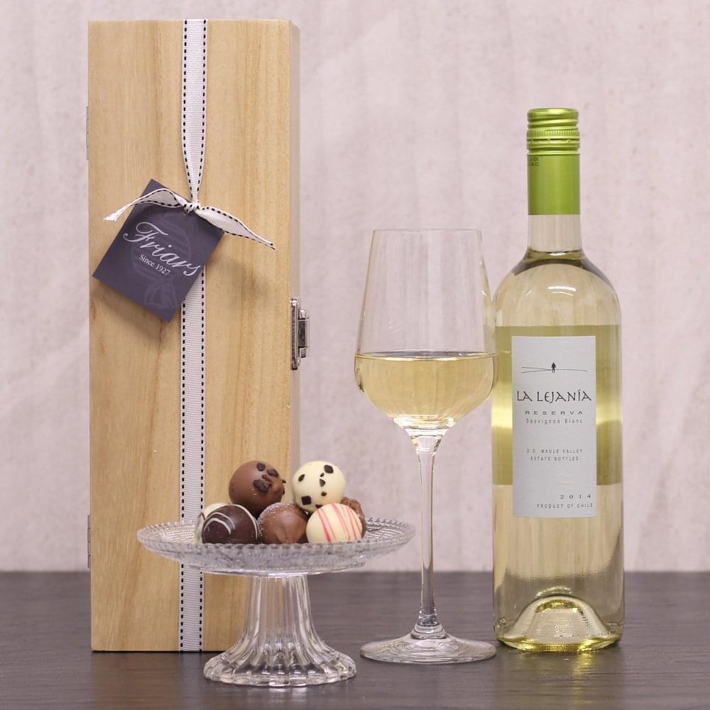 White Wine Chocolate Gift Box