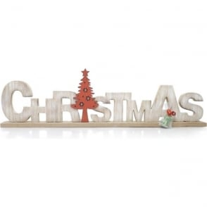 Wooden 'Christmas' Decoration