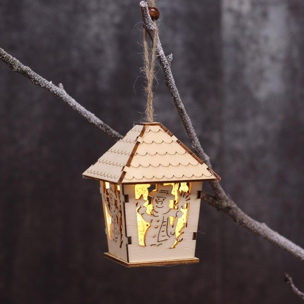 Christmas Lantern.Wooden Christmas Lantern