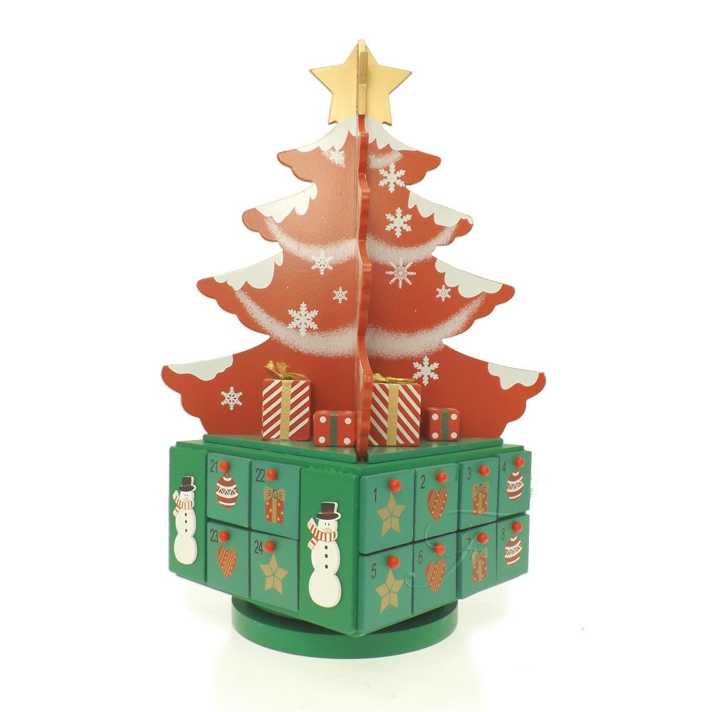 buy wooden tree advent calendar