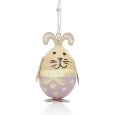 Yellow And Purple Bunny Egg Decoration